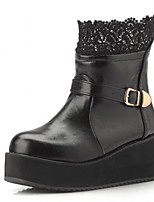 Women's Shoes Platform Comfort Boots Outdoor Black / White