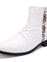 Men's Shoes Outdoor / Office & Career / Party & Evening / Athletic / Casual Boots Black / White