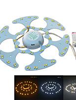 Jiawen 18w 1600lm белый / теплый белый цвет двойной источник света для потолочной лампы / магнитные ногтей (AC170 ~ 265V)