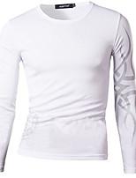 Tee-Shirt Décontracté Pour des hommes Manches longues A Motifs Polyester