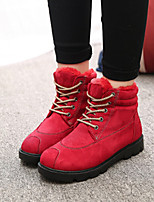 Women's Shoes Flat Heel Comfort Boots Outdoor Black / Blue / Red