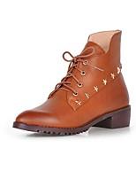 Chaussures Femme - Extérieure / Bureau & Travail / Habillé / Décontracté - Noir / Marron - Gros Talon - Confort / Bottes à la Mode -