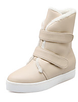 Women's Shoes Leatherette Flat Heel Snow Boots Boots Casual Yellow / Red / Beige