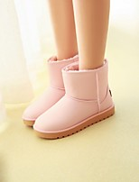 Women's Shoes Leatherette Flat Heel Snow Boots Boots Outdoor / Office & Career / Casual Black / Pink / Khaki
