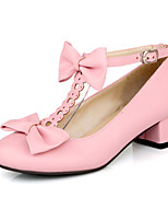 Women's Shoes Chunky Heel Comfort / Round Toe Heels Outdoor / Office & Career / Dress / Casual Black / Pink / Beige
