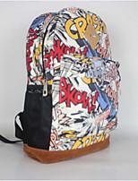 Women Canvas Baguette Backpack - Multi-color