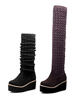 Women's Shoes Wedge Heel Round Toe Above The Knee  Boots More Colors available