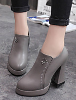 Women's Shoes Chunky Heel Pointed Toe Boots Casual Black / Gray