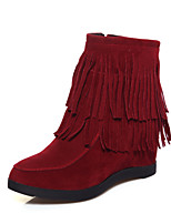 Women's Shoes Leatherette Wedge Heel Fashion Boots Boots Casual Black / Yellow / Red