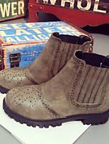 Women's Shoes Chunky Heel Comfort Boots Outdoor Green / Khaki
