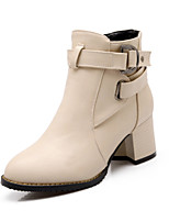 Women's Shoes    Fashion Boots Boots Outdoor / Office & Career / Casual Chunky Heel OthersBlack / Red /  &c-4