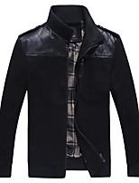 Men fall jacket men Korean slim type collar stitching youth Metrosexual leisure thin clothes