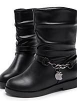 Zapatos de mujer - Tacón Bajo - Punta Redonda - Botas - Casual - Semicuero - Negro / Marrón