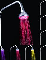un ABS de qualité changeant de couleur chromé LED Pomme de douche pluie