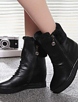 Women's New Arrival Shoes Antiskid Europe Style Wedge Heel Wedges / Comfort / Round Toe Boots Casual Black / Red / White