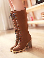 Women's Shoes Leatherette Chunky Heel Fashion Boots / Ankle Strap / Closed Toe BootsWedding / Outdoor/ Party & Evening