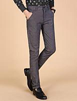 Men's High Quality Casual Business Design Cotton Slim Fit Pants
