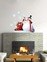 Natal / Romance / Vida Imóvel Wall Stickers Autocolantes 3D para Parede , PVC 58cmX74.8cmX0.3cm(22.8