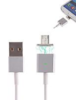 cwxuan usb del metallo micro ™ adesione magnetica cavo di ricarica per Samsung / HTC e altri telefoni intelligenti (120 cm)