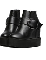Women's Shoes  Platform Creepers Boots Casual Black