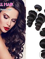 Brazilian Virgin Hair Loose Wave 4 Bundles Brazilian Hair Weave Bundles Human Hair Brazilian Loose Wave