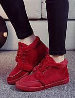 Scarpe Donna - Ballerine / Sneakers alla moda - Tempo libero / Casual - Comoda / Punta arrotondata - Piatto - Felpato -Nero / Blu / Rosso