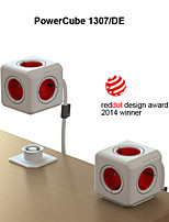 Besteye® Allocacoc PowerCube 1307/DE Power outlet with 5 Outlets 3m 10ft Extension Cord Reddot Award Power Strip