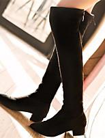 Chaussures Femme - Habillé / Décontracté / Soirée & Evénement - Noir - Gros Talon - Bout Pointu / Bottes à la Mode - Bottes - Similicuir