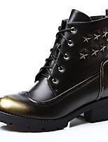 Scarpe Donna - Stivali - Tempo libero / Casual - Stivali alla cowboy / Stivali da biker - Quadrato - Sintetico - Marrone / Rosso