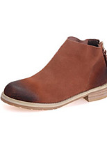 Women's Shoes  Low Heel Round Toe Boots Casual Black / Brown / Gray