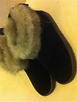 Women's Shoes  Flat Heel Round Toe Boots Casual Black / Orange / Mahogany