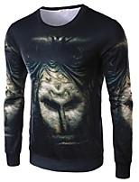 Katoen / Polyester - Print - Heren - T-shirt - Informeel - Lange mouw