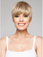 Capless High Quality Short Straight Blonde Synthetic Hair