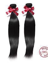 EVET Brazilian Virgin Hair Straight 7A Unprocessed Virgin Human Hair Extensions Brazilian Straight Hair Natural Color