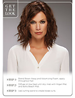 Best Sell Middle Synthetic Brown Color curly Hair Wig Top Quality