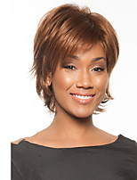 Capless Brown Color High Quality Straight Hair Synthetic Wig