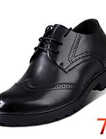 Men's Height Increasing Elevator Taller Shoes Office & Career / Dress Leather Oxfords Wedding Black / Brown