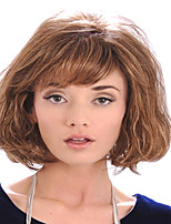 Lady Women Cheap Price To European And America  Light Brown Synthetic  Wigs