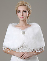 Wedding / Party/Evening / Casual Faux Fur Shawls Sleeveless Wedding  Wraps / Fur Wraps