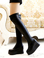 Women's Shoes  Platform Round Toe / Closed Toe Boots Office & Career / Dress / Casual Black