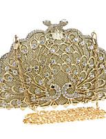 Women Polyester / Metal Minaudiere Clutch / Evening Bag - Gold / Silver