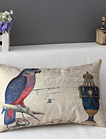 50cm*30cm Parrot Cotton / Linen Cotton&linen Waist Pillow Cover / Throw Pillow With No Insert