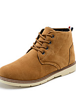 Men's Boots Fall / Winter Comfort Leatherette Casual Flat Heel Lace-up Black / Blue / Brown Walking