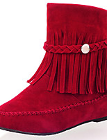 Women's Shoes Synthetic Flat Heel Riding Boots / Fashion Boots Boots Party & Evening / Dress / Casual Red