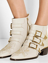 Women's Shoes Leather Low Heel Fashion Boots Boots Office & Career / Party & Evening / Dress