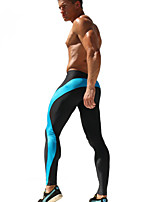 Men's Sport Long Sexy Tight Pants Gym Ankle Length Pant Penis Male Athletic Trousers Casual Elastic Sweatpants AQ017