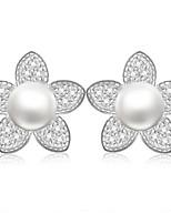 925 Sterling Silver Fresh Water Pearl Earring Studs
