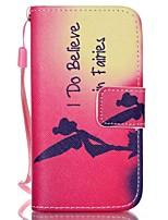 rotes Muster PU-Leder Material Klappkarten-Telefonkasten für iphone 4 / 4s