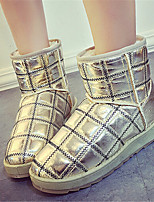 Women's Shoes Low Heel Round Toe Boots Casual Black / Silver / Gold