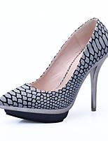 Women's Shoes Fabric Stiletto Heel Heels / Platform / Pointed Toe Heels Party & Evening / Dress / Casual Gray / Gold